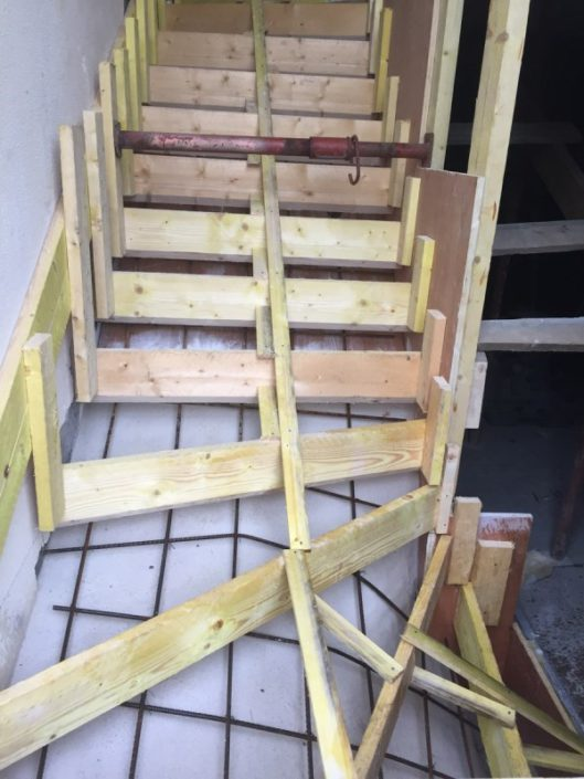 Préparation escalier