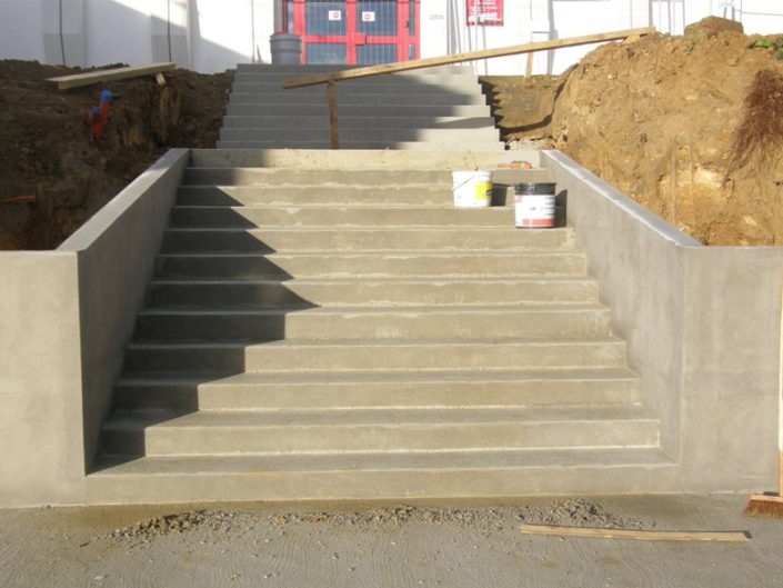 Construction escalier école Nantes