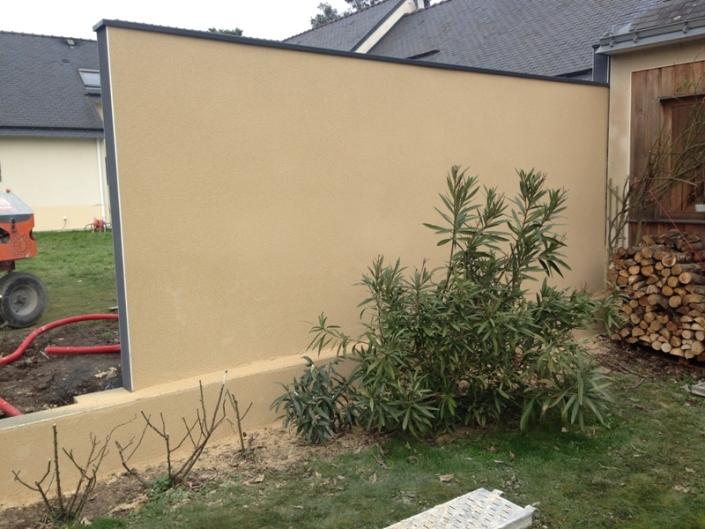 Enduit beige à Thouaré sur Loire