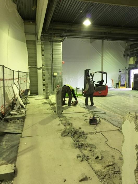 Suppression mur séparatif d'un entrepôt à nantes