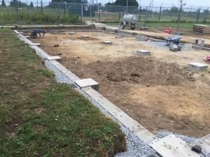 Fondations pour bâtiment modulaire Clisson