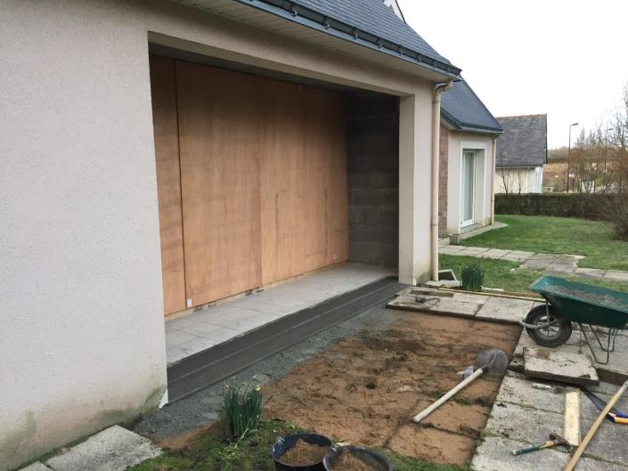 Réfection d'une entrée de garage