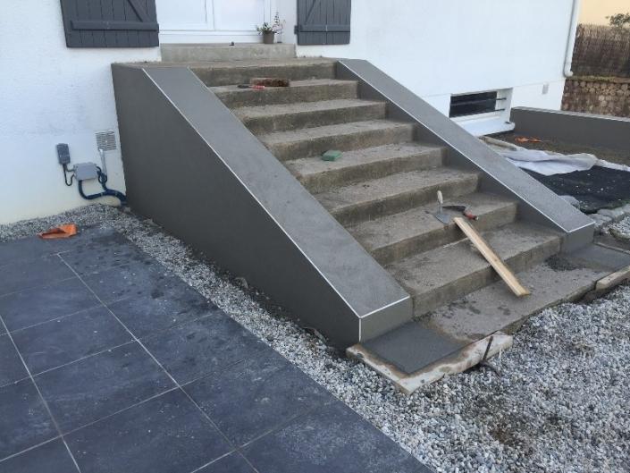 Enduit escalier