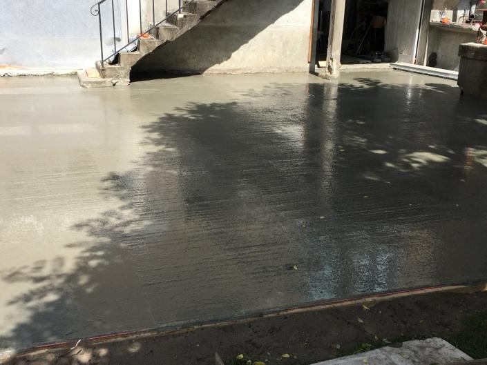 Terrasse béton finition brut Nantes