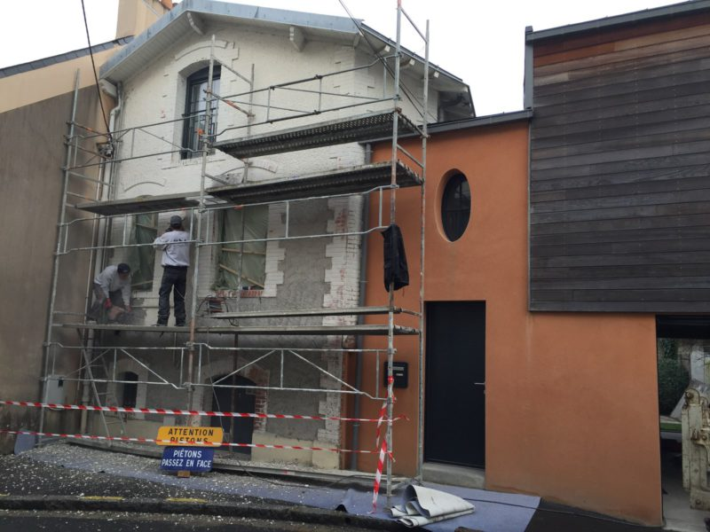 Préparation ancienne façade à Nantes