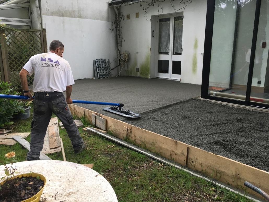 Realisation De Terrasses Ciment Beton Nantes Renovation