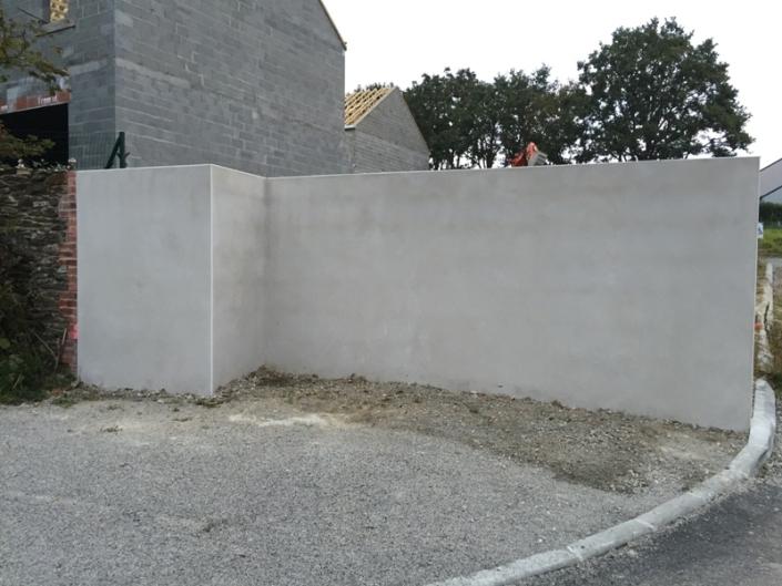 Mur séparatif à Mauves sur Loire