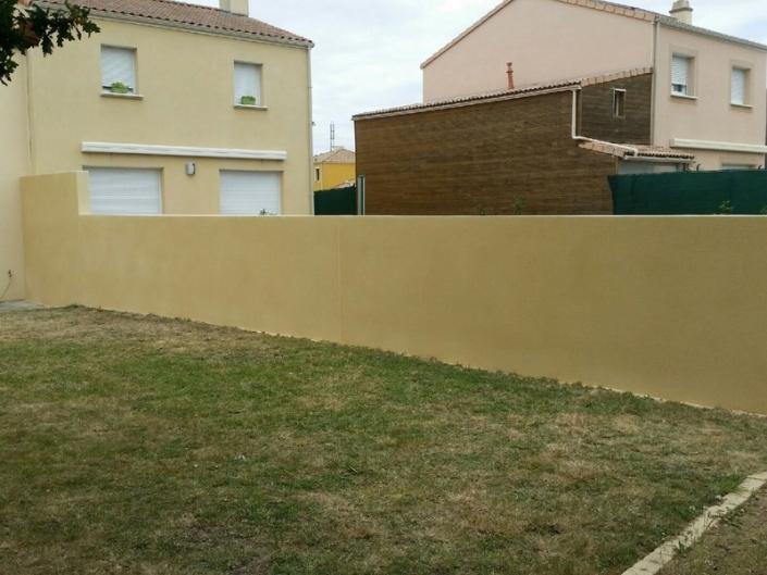 Muret jardin à Rezé