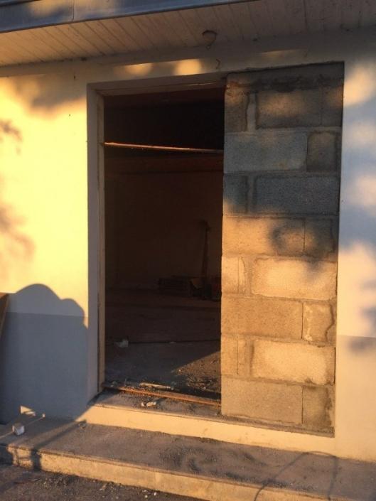Modification porte fenêtre