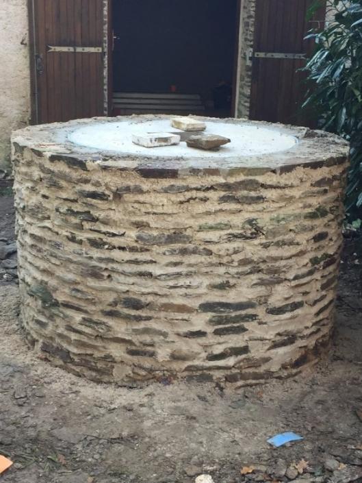Réfection tête de puits à Casson