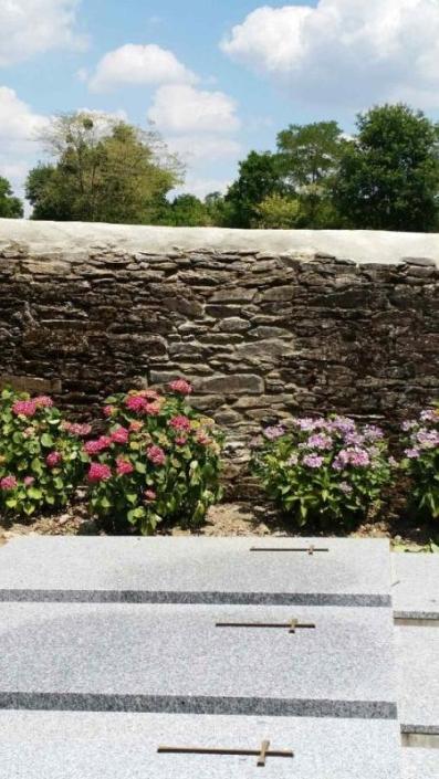 Réfection muret pierres à Thouaré sur Loire